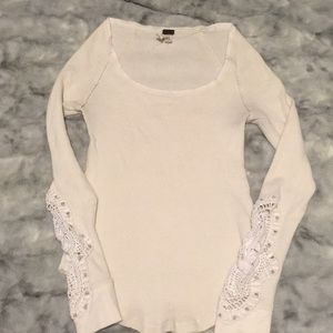 Free people lace thermal shirt